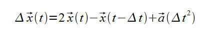 Verlet integration equation